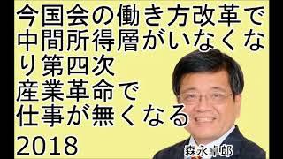 森永卓郎【今国会の焦点 働き方改革の実態とAI産業の弊害】