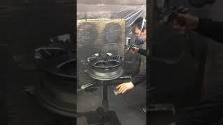 新しい革新的なクロムメッキシステム!アルミホイールにスプレーする方法